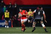 25 October 2019; Tyler Bleyendaal of Munster in action against Gareth Evans of Ospreys during the Guinness PRO14 Round 4 match between Munster and Ospreys at Irish Independent Park in Cork. Photo by Sam Barnes/Sportsfile
