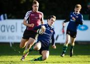 26 October 2019; Ben Donovan of Queen's University Belfast goes over to score his side's first try during the 5th place play-off match between Queen's University Belfast and NUI Galway at Terenure College RFC in Lakelands Park, Dublin. Photo by Eóin Noonan/Sportsfile