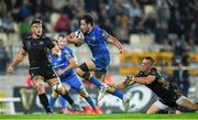 26 October 2019; Hugo Keenan of Leinster is tackled by Michelangelo Biondelli of Zebre during the Guinness PRO14 Round 4 match between Zebre and Leinster at the Stadio Sergio Lanfranchi in Parma, Italy. Photo by Ramsey Cardy/Sportsfile