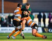 26 October 2019; Stephen Fitzgerald of Connacht is tackled by Anthony Volmink, left, and Dries Swanepoel of Toyota Cheetahs during the Guinness PRO14 Round 4 match between Connacht and Toyota Cheetahs at The Sportsground in Galway. Photo by Seb Daly/Sportsfile
