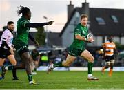26 October 2019; Kieran Marmion of Connacht on his way to scoring his side's second try during the Guinness PRO14 Round 4 match between Connacht and Toyota Cheetahs at The Sportsground in Galway. Photo by Seb Daly/Sportsfile
