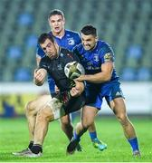 26 October 2019; George Biagi of Zebre is tackled by Cian Kelleher of Leinster during the Guinness PRO14 Round 4 match between Zebre and Leinster at the Stadio Sergio Lanfranchi in Parma, Italy. Photo by Ramsey Cardy/Sportsfile