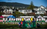 26 October 2019; Ireland players ahead of the FIH Men's Olympic Qualifier match against Canada at Rutledge Field, in West Vancouver, British Columbia, Canada. Photo by Darryl Dyck/Sportsfile