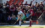 26 October 2019; John McKee of Ireland in action against Brad Logan of Canada during the FIH Men's Olympic Qualifier match between Canada and Ireland at Rutledge Field, in West Vancouver, British Columbia, Canada. Photo by Darryl Dyck/Sportsfile