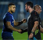 26 October 2019; Adam Byrne of Leinster and Mick Kearney of Zebre following the Guinness PRO14 Round 4 match between Zebre and Leinster at the Stadio Sergio Lanfranchi in Parma, Italy. Photo by Ramsey Cardy/Sportsfile