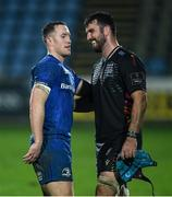 26 October 2019; Rory O'Loughlin of Leinster and Mick Kearney of Zebre following the Guinness PRO14 Round 4 match between Zebre and Leinster at the Stadio Sergio Lanfranchi in Parma, Italy. Photo by Ramsey Cardy/Sportsfile