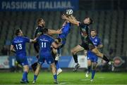 26 October 2019; Hugo Keenan of Leinster in action against Edoardo Padovani of Zebre during the Guinness PRO14 Round 4 match between Zebre and Leinster at the Stadio Sergio Lanfranchi in Parma, Italy. Photo by Ramsey Cardy/Sportsfile