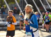 27 October 2019; Participant Claude Marian, from Faulx, France, crosses James Joyce Bridge during today's 2019 KBC Dublin Marathon. 22,500 runners took to the Fitzwilliam Square start line today to participate in the 40th running of the KBC Dublin Marathon, making it the fifth largest marathon in Europe. Photo by Seb Daly/Sportsfile