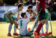 26 October 2019; Chris Cargo of Ireland celebrates with team-mates after scoring a goal for his side against Canada during the FIH Men's Olympic Qualifier match at Rutledge Field, in West Vancouver, British Columbia, Canada. Photo by Darryl Dyck/Sportsfile