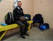 27 October 2019; Referee David Gough in the dressing room prior to the Meath County Senior Club Football Championship Final match between Ratoath and Summerhill at Páirc Tailteann in Navan, Co Meath. Photo by Seb Daly/Sportsfile