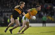 27 October 2019; Ciaran Keating of South Kerry in action against Gavin White of Dr. Crokes during the Kerry County Senior Club Football Championship semi-final match between South Kerry and Dr Crokes at Fitzgerald Stadium in Killarney, Kerry. Photo by Brendan Moran/Sportsfile