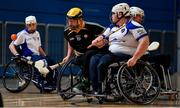 27 October 2019; Peadar Heffron of Ulster in action against Shane Curran of Connacht during the M.Donnelly GAA Wheelchair Hurling All-Ireland Finals at National Indoor Arena in Abbotstown, Dublin. Photo by David Fitzgerald/Sportsfile