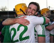 27 October 2019; Colin Fennelly of Ballyhale Shamrocks and team mate Mark Aylward celebrate after the Kilkenny Senior Hurling Club Championship Final match between James Stephens and Ballyhale Shamrocks at UPMC Nowlan Park in Kilkenny. Photo by Ray McManus/Sportsfile