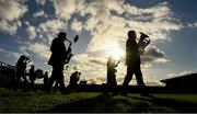 27 October 2019; Members of the St Patrick's Brass and Read Band during the pre match parad ahead of the Kilkenny Senior Hurling Club Championship Final match between James Stephens and Ballyhale Shamrocks at UPMC Nowlan Park in Kilkenny. Photo by Ray McManus/Sportsfile