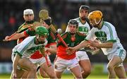 27 October 2019; Joey Holden of Ballyhale Shamrocks and team mate Ronan Corcoran, right, vie with Matthew Ruth 14, and Tadhg O'Dwyer of James Stephens for the sliothar as Richie Reid, right, moves to win possession during the Kilkenny Senior Hurling Club Championship Final match between James Stephens and Ballyhale Shamrocks at UPMC Nowlan Park in Kilkenny. Photo by Ray McManus/Sportsfile