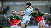 27 October 2019; Darragh Corcoran of Ballyhale Shamrocks  in action against Niall Brassil of James Stephens during the Kilkenny Senior Hurling Club Championship Final match between James Stephens and Ballyhale Shamrocks at UPMC Nowlan Park in Kilkenny. Photo by Ray McManus/Sportsfile