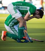 27 October 2019; John McKee of Ireland reacts after losing to Canada in a shootout during the FIH Men's Olympic Qualifier match at Rutledge Field, in West Vancouver, British Columbia, Canada. Photo by Darryl Dyck/Sportsfile