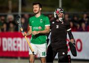 27 October 2019; John McKee of Ireland reacts after failing to score against Canada goalkeeper David Carter on the final Ireland shot during a shootout in the FIH Men's Olympic Qualifier match at Rutledge Field, in West Vancouver, British Columbia, Canada. Photo by Darryl Dyck/Sportsfile