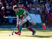 27 October 2019; Michael Robson of Ireland controls the ball in front of Gabriel Ho-Garcia of Canada during the first half of the FIH Men's Olympic Qualifier match at Rutledge Field, in West Vancouver, British Columbia, Canada. Photo by Darryl Dyck/Sportsfile