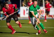 27 October 2019; Peter Caruth of Ireland is pursued by John Smythe of Canada during the second half of the FIH Men's Olympic Qualifier match at Rutledge Field, in West Vancouver, British Columbia, Canada. Photo by Darryl Dyck/Sportsfile