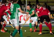 27 October 2019; Peter Caruth of Ireland looks to pass during the second half of theFIH Men's Olympic Qualifier match against Canada at Rutledge Field, in West Vancouver, British Columbia, Canada. Photo by Darryl Dyck/Sportsfile