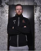 28 October 2019; Seán Hoare poses for a portrait during a Dundalk FAI Cup Media Day at Oriel Park in Dundalk, Co. Louth. Photo by Ben McShane/Sportsfile