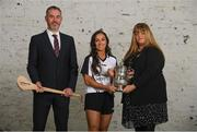 29 October 2019; Managing Director for Littlewoods Ireland Rossa Butler and Ulster Camogie Chairperson Jennifer Cultra are pictured with Cork's Amy O'Connor at the announcement that Littlewoods Ireland will renew its sponsorship of the All-Ireland Senior Hurling Championship, the Littlewoods Ireland Camogie Leagues and the GAA Go Games Provincial Days for three years until 2022. Littlewoods Ireland has also launched new social channels for fans to see exclusive GAA content and have access to exclusive GAA competitions. For #StyleOfPlay content and behind the scenes action follow @LWI_GAA on Facebook, Instagram, Twitter and blog.littlewoodsireland.ie. Photo by Ramsey Cardy/Sportsfile