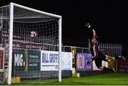 29 October 2019; Bohemians goalkeeper Kian Lacchia fails to keep out the shot from Ben McCormack of St Patricks Athletic during the SSE Airtricity U17 League Final match between St. Patrick's Athletic and Bohemians at Richmond Park in Dublin. Photo by David Fitzgerald/Sportsfile