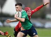 30 October 2019; Alan Kehoe of South East Area is tackled by Oisin McDermott of North East Area during the 2019 Shane Horgan Cup Second Round match between South East Area and North East Area at Tullamore RFC in Tullamore, Offaly. Photo by Matt Browne/Sportsfile