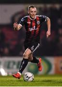 25 October 2019; Derek Pender of Bohemians during the SSE Airtricity League Premier Division match between Bohemians and Sligo Rovers at Dalymount Park in Dublin. Photo by Harry Murphy/Sportsfile