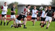 30 October 2019; Darragh Guinan of Midlands Area is tackled by Anrai Poole of  Metro Area during the 2019 Shane Horgan Cup Second Round match between Midlands Area and Metro Area at Tullamore RFC in Tullamore, Offaly. Photo by Matt Browne/Sportsfile