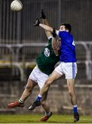 30 October 2019; Kevin McGettigan of Naomh Conaill in action against Eamonn Colum of Gaoth Dobhair during the Donegal County Senior Club Football Championship Final 2nd Replay match between Gaoth Dobhair and Naomh Conaill at Mac Cumhaill Park in Ballybofey, Donegal. Photo by Oliver McVeigh/Sportsfile