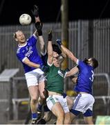 30 October 2019; Kevin Cassidy of Gaoth Dobhair in action against Anthony Thompson, Stephen McGrath and AJ Gallagher of Naomh Conaill during the Donegal County Senior Club Football Championship Final 2nd Replay match between Gaoth Dobhair and Naomh Conaill at Mac Cumhaill Park in Ballybofey, Donegal. Photo by Oliver McVeigh/Sportsfile
