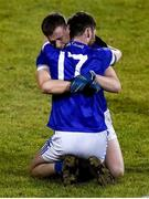 30 October 2019; Ciaran Thompson and Marty Boyle of Naomh Conaill celebrate after the final whistle in the Donegal County Senior Club Football Championship Final 2nd Replay match between Gaoth Dobhair and Naomh Conaill at Mac Cumhaill Park in Ballybofey, Donegal. Photo by Oliver McVeigh/Sportsfile