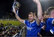 30 October 2019; AJ Gallagher of Naomh Conaill celebrates with the Dr Maguire cup after  the Donegal County Senior Club Football Championship Final 2nd Replay match between Gaoth Dobhair and Naomh Conaill at Mac Cumhaill Park in Ballybofey, Donegal. Photo by Oliver McVeigh/Sportsfile