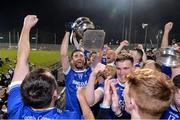 30 October 2019; Marty Boyle of Naomh Conaill celebrates with the Dr Maguire cup after  the Donegal County Senior Club Football Championship Final 2nd Replay match between Gaoth Dobhair and Naomh Conaill at Mac Cumhaill Park in Ballybofey, Donegal. Photo by Oliver McVeigh/Sportsfile