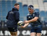 31 October 2019; Peter Dooley, right, and Rory O'Loughlin during the Leinster Rugby captain's run at the RDS Arena in Dublin. Photo by Seb Daly/Sportsfile