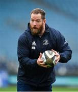 31 October 2019; Michael Bent during the Leinster Rugby captain's run at the RDS Arena in Dublin. Photo by Seb Daly/Sportsfile
