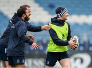 31 October 2019; Ciarán Frawley, right, with Jamison Gibson-Park and Michael Bent during the Leinster Rugby captain's run at the RDS Arena in Dublin. Photo by Seb Daly/Sportsfile