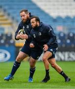 31 October 2019; Michael Bent, left, and Jamison Gibson-Park during the Leinster Rugby captain's run at the RDS Arena in Dublin. Photo by Seb Daly/Sportsfile