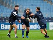 31 October 2019; Michael Bent, centre, with Conor O'Brien, left, and Jamison Gibson-Park during the Leinster Rugby captain's run at the RDS Arena in Dublin. Photo by Seb Daly/Sportsfile