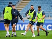 31 October 2019; Cian Kelleher, centre, with Rónan Kelleher, left, and Michael Milne during the Leinster Rugby captain's run at the RDS Arena in Dublin. Photo by Seb Daly/Sportsfile