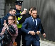 1 November 2019; Conor McGregor arrives at The Criminal Courts of Justice in Dublin. Photo by David Fitzgerald/Sportsfile