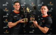 1 November 2019; PwC GAA GPA Hurler of the Year Séamus Callanan, left, of Tipperary and PwC GAA GPA Footballer of the Year Stephen Cluxton of Dublin with their awards at the PwC All-Stars 2019 at the Convention Centre in Dublin. Photo by Seb Daly/Sportsfile