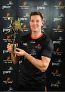 1 November 2019; PwC GAA GPA Hurler of the Year Séamus Callanan of Tipperary with his award at the PwC All-Stars 2019 at the Convention Centre in Dublin. Photo by Seb Daly/Sportsfile