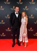 1 November 2019; Donegal footballer Michael Murphy with Annie Keeney upon arrival at the PwC All-Stars 2019 at the Convention Centre in Dublin. Photo by David Fitzgerald/Sportsfile
