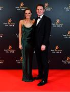 1 November 2019; Kerry footballer Tadhg Morley with Ciara Crannock upon arrival at the PwC All-Stars 2019 at the Convention Centre in Dublin. Photo by Seb Daly/Sportsfile