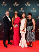 1 November 2019; Tipperary manager Liam Sheedy with daughters Aisling and Gemma and wife Margaret upon arrival at the PwC All-Stars 2019 at the Convention Centre in Dublin. Photo by David Fitzgerald/Sportsfile