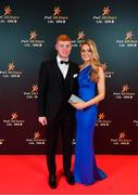 1 November 2019; Kilkenny hurler Adrian Mullen and Emma McEvoy upon arrival at the PwC All-Stars 2019 at the Convention Centre in Dublin. Photo by David Fitzgerald/Sportsfile