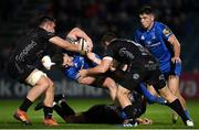 1 November 2019; Rory O'Loughlin of Leinster is tackled by Ollie Griffiths, left, and Adam Warren of Dragons during the Guinness PRO14 Round 5 match between Leinster and Dragons at the RDS Arena in Dublin. Photo by Eóin Noonan/Sportsfile